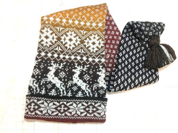 Шапка-шарф с оленями