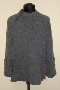 Джемпер мужской шерстяной валяный тёмно-серый