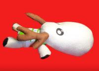 Олень игрушечный белый