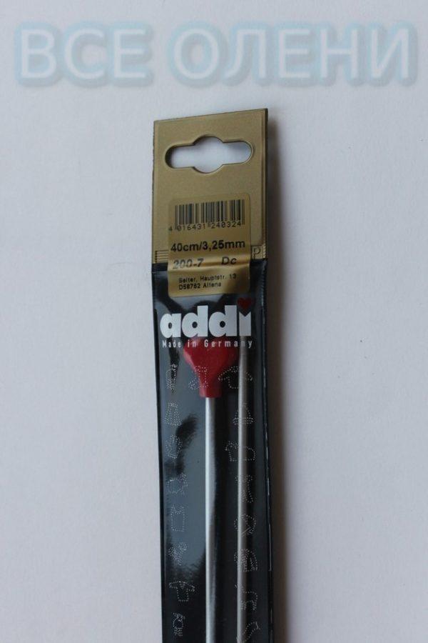 Спицы адди addi прямые 3.25 40 металл
