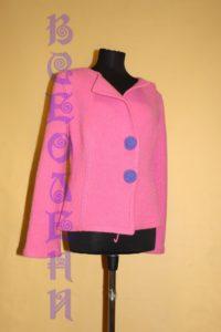 Жакет женский шерстяной валяный розовый