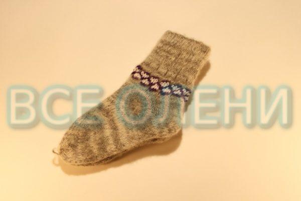 Носки детские серые с орнаментом