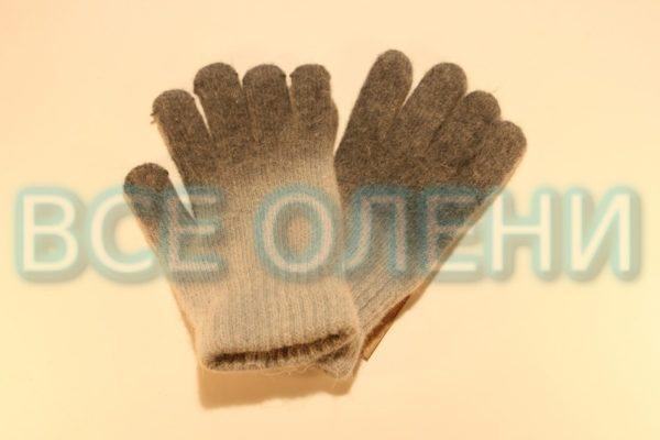 Перчатки шерстяные серые