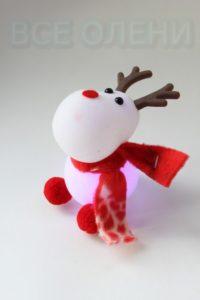 Олень - фонарик Новогодний