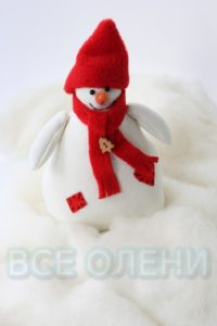 Снеговик тильда ручная работа