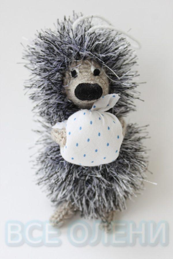 Особенная вязаная игрушка ручной работы Ёжик в тумане