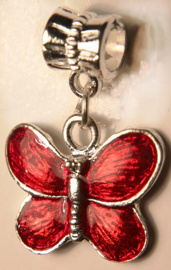 Шарм-подвеска Бабочка-эмаль