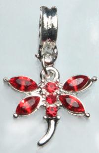 Шарм-подвеска Бабочка-кристалы