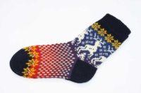 Носки вязаные с оленями