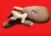 Олень игрушечный коричневый