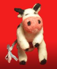 Корова валяная ручной работы