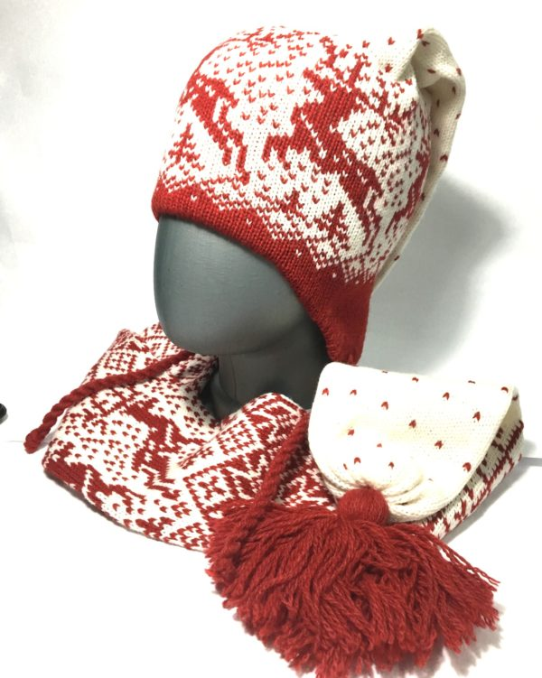 """Шапка-шарф """"Олени"""" детская"""