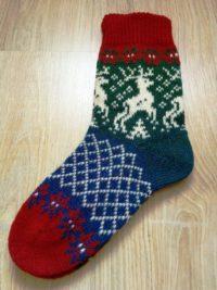 Носки с оленями из 100% шерсти