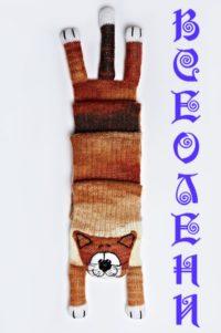 Шарф шерстяной ручной работы Рыжий Кот