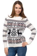 Оптом свитер женский с оленями