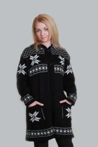 Пальто вязаное шерстяное