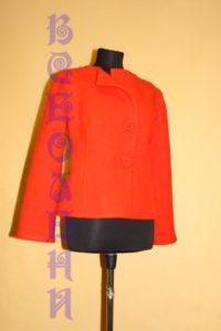 Жакет женский шерстяной валяный оранжевый