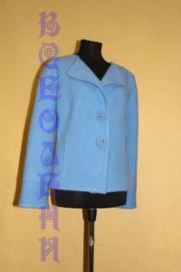 Жакет женский шерстяной валяный голубой